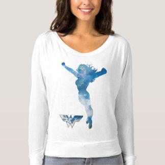 Wonder Woman Blue Sky Silhouette T-Shirt