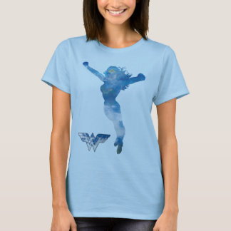 Wonder Woman Blue Sky Silhouette T-Shirt