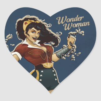 Wonder Woman Bombshell Heart Sticker