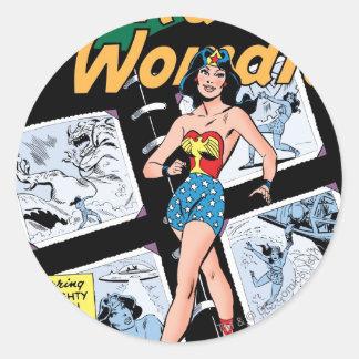 Wonder Woman Box of 3 Dooms Round Stickers