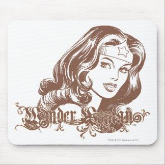Wonder Woman Brown Mouse Pad