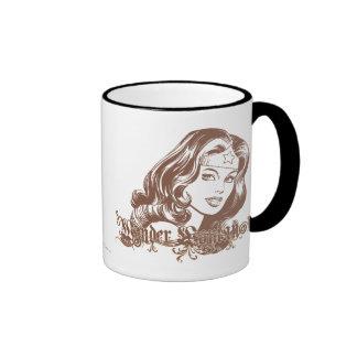 Wonder Woman Brown Ringer Mug