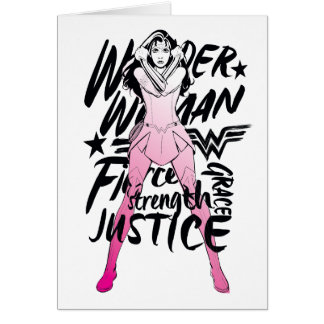 Wonder Woman Brush Typography Art Card