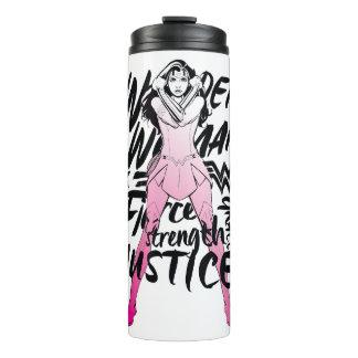 Wonder Woman Brush Typography Art Thermal Tumbler