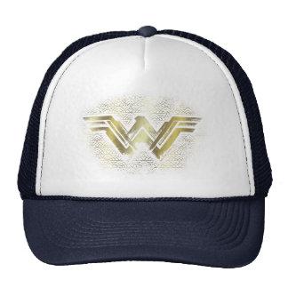 Wonder Woman Brushed Gold Symbol Cap