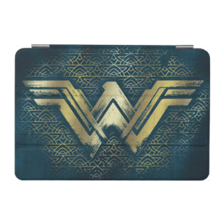 Wonder Woman Brushed Gold Symbol iPad Mini Cover