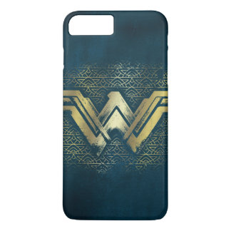 Wonder Woman Brushed Gold Symbol iPhone 8 Plus/7 Plus Case
