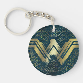 Wonder Woman Brushed Gold Symbol Key Ring