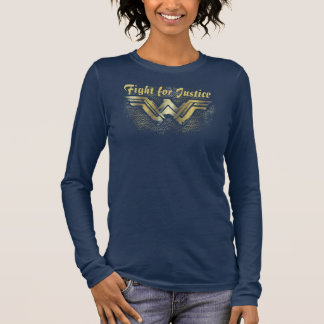 Wonder Woman Brushed Gold Symbol Long Sleeve T-Shirt
