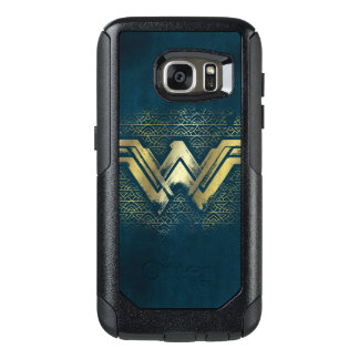 Wonder Woman Brushed Gold Symbol OtterBox Samsung Galaxy S7 Case