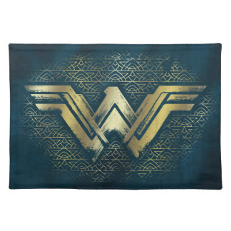 Wonder Woman Brushed Gold Symbol Placemat