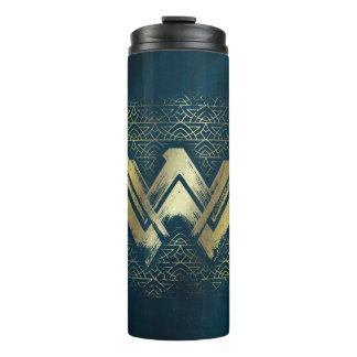 Wonder Woman Brushed Gold Symbol Thermal Tumbler