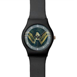 Wonder Woman Brushed Gold Symbol Wristwatch
