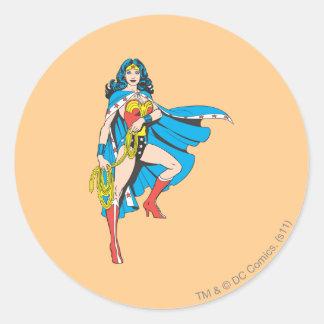 Wonder Woman Cape Classic Round Sticker