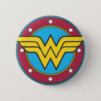 Wonder Woman | Circle & Stars Logo 6 Cm Round Badge