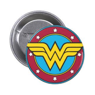 Wonder Woman Circle Stars Logo Pins