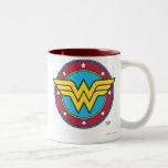 Wonder Woman Circle & Stars Logo Coffee Mug