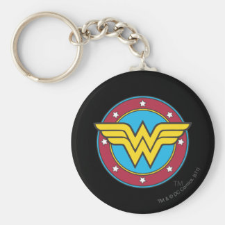 Wonder Woman Circle Stars Logo Key Chains