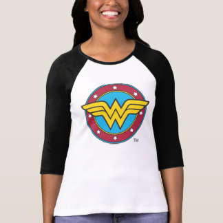 Wonder Woman Circle Stars Logo T-shirt