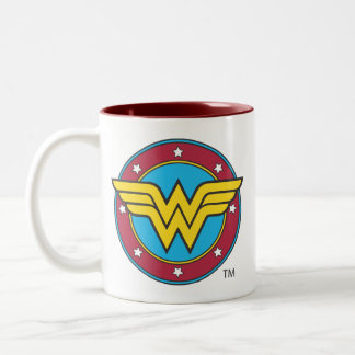 Wonder Woman Circle & Stars Logo Two-Tone Mug