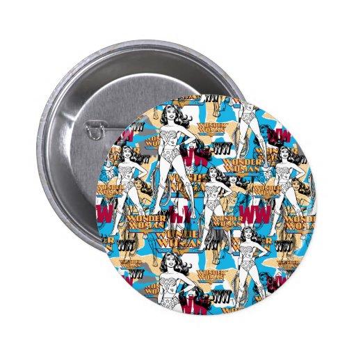 Wonder Woman Collage 10 Button