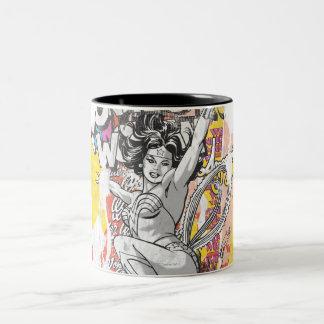Wonder Woman Collage 1 Two-Tone Mug