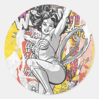 Wonder Woman Collage 1 Round Sticker