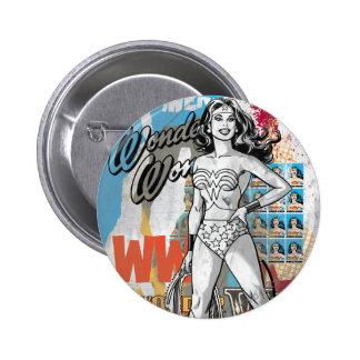 Wonder Woman Collage 2 6 Cm Round Badge