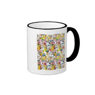 Wonder Woman Collage 7 Ringer Mug