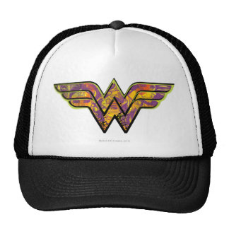 Wonder Woman Colorful Logo Mesh Hat