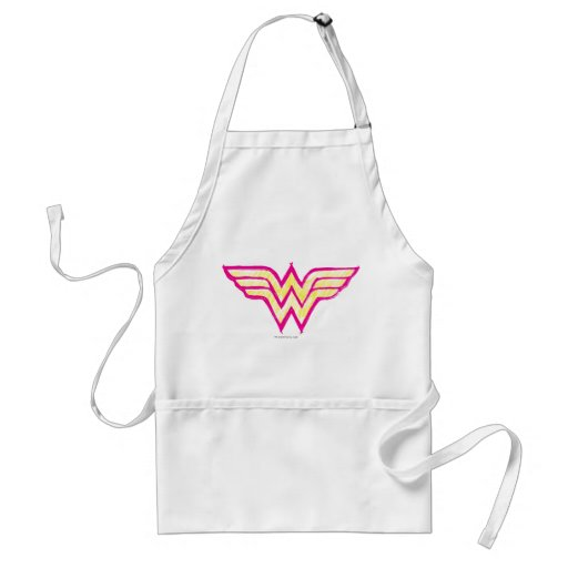 Wonder Woman Colorful Pink and Yellow Logo Apron