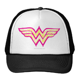 Wonder Woman Colorful Pink and Yellow Logo Hat