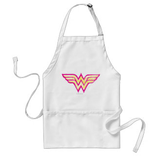 Wonder Woman Colorful Pink and Yellow Logo Standard Apron