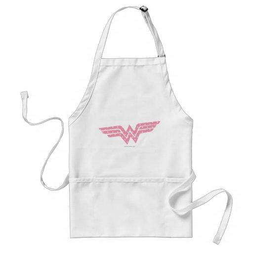 Wonder Woman Colorful Pink Floral Logo Aprons