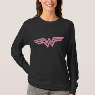 Wonder Woman Colorful Pink Floral Logo T-Shirt