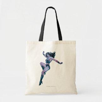 Wonder Woman Colorful Pose Budget Tote Bag