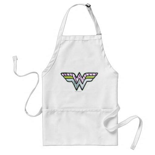 Wonder Woman Colorful Sketch Logo Apron