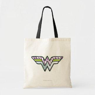 Wonder Woman Colorful Sketch Logo Budget Tote Bag