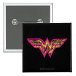 Wonder Woman Colourful Pink and Yellow Logo