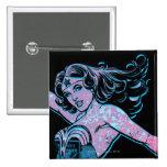 Wonder Woman Colourful Pose 15 Cm Square Badge
