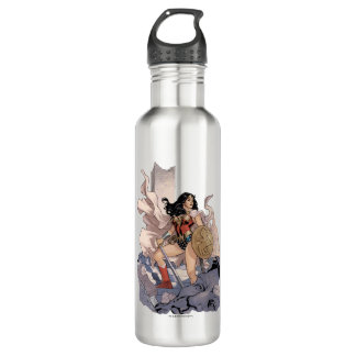 Wonder Woman Comic Cover #13 710 Ml Water Bottle