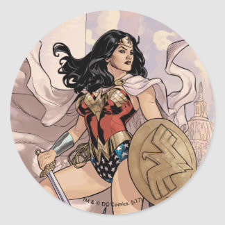 Wonder Woman Comic Cover #13 Classic Round Sticker