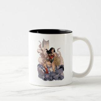 Wonder Woman Comic Cover #13 Two-Tone Coffee Mug