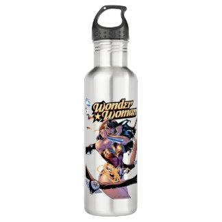 Wonder Woman Comic Cover #1 710 Ml Water Bottle