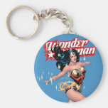 Wonder Woman Comic Cover Basic Round Button Key Ring
