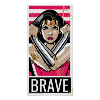 Wonder Woman Defend - Template Poster