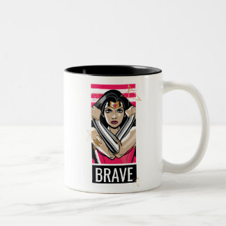 Wonder Woman Defend - Template Two-Tone Coffee Mug