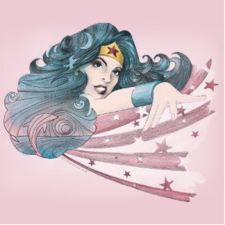 Wonder Woman Dolphin and Stripes Acrylic Cut Out