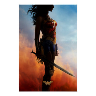 Wonder Woman Duststorm Silhouette Poster