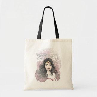 Wonder Woman Eagle and Trees Canvas Bag